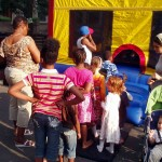 Waiting to enter Bounce House