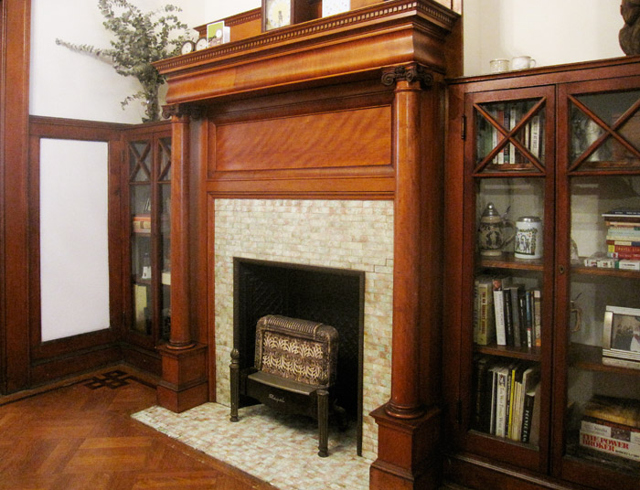 Gas Fireplace with Bookcases 2011 PLG House Tour » Lefferts Manor ...