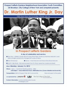 Martin Luther King Day in PLG