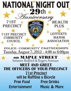 Prospect Lefferts Gardens National Night Out 2012