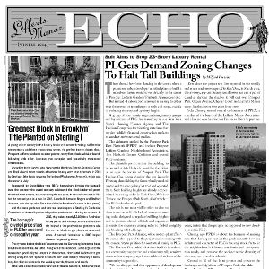 The Lefferts Manor Echo Winter 2014