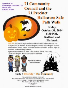 71st Precinct Halloween Safe Walk 2014