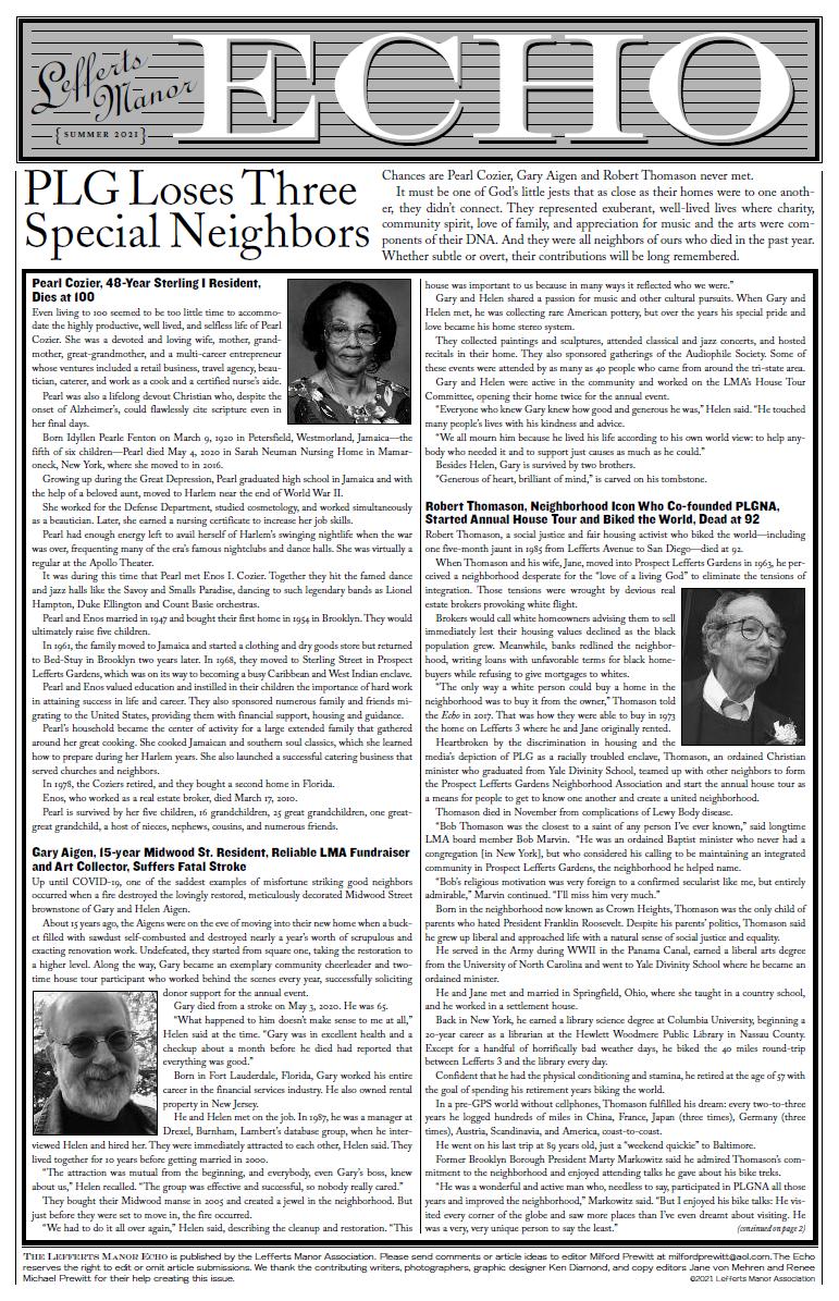 LMA Echo, Summer 2021 Issue PDF
